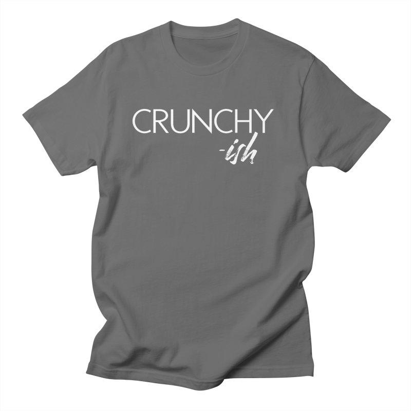 Crunchy-Ish White Lettering Men's T-Shirt by thatishlife's Artist Shop