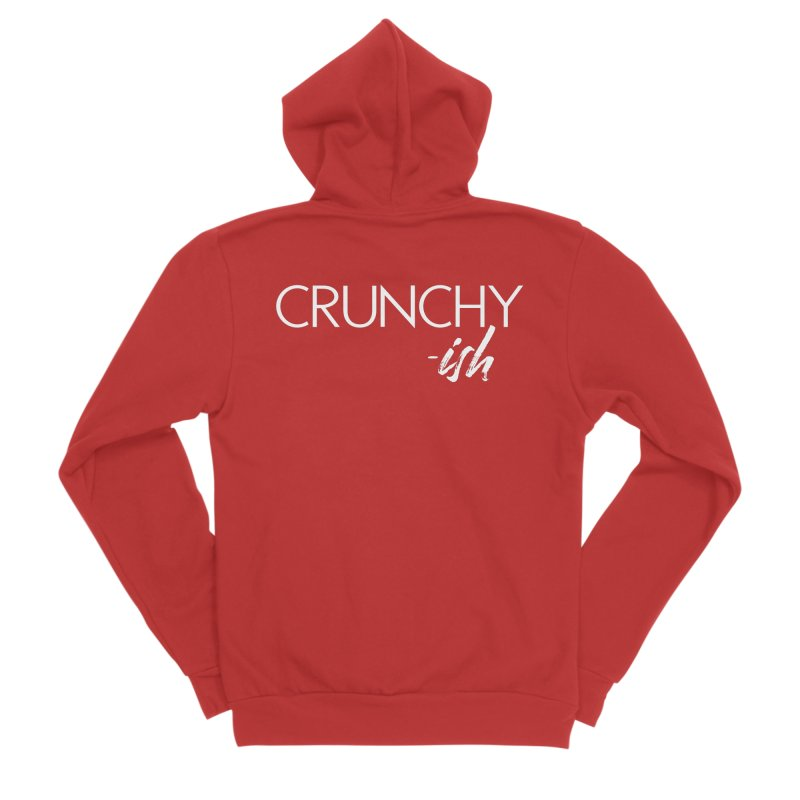 Crunchy-Ish White Lettering Men's Zip-Up Hoody by thatishlife's Artist Shop