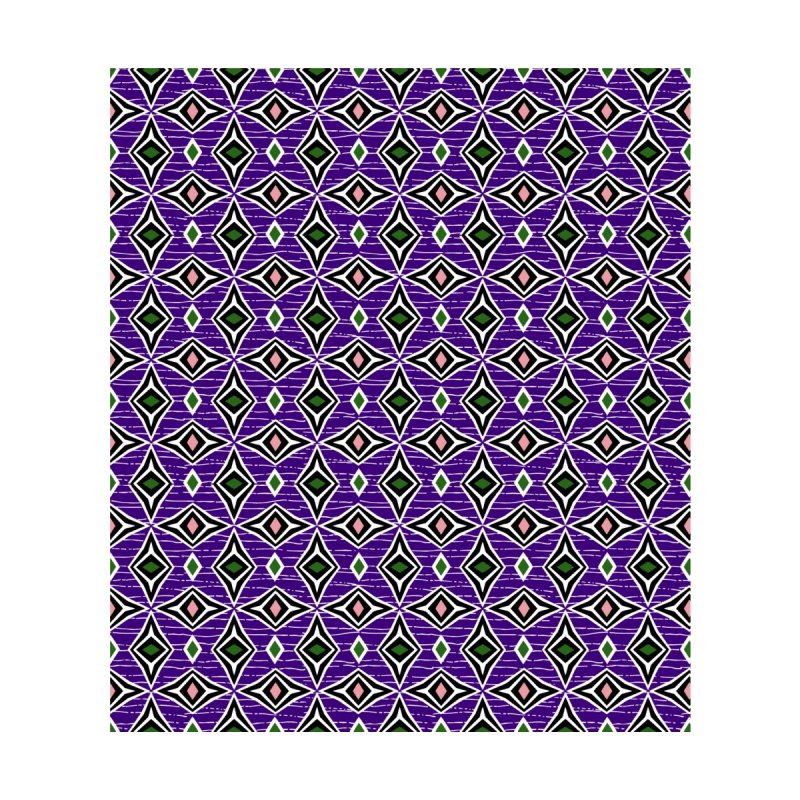 Contemporary abstract tribal diamond shapes in purple green and pink by thatsgraphic's Artist Shop