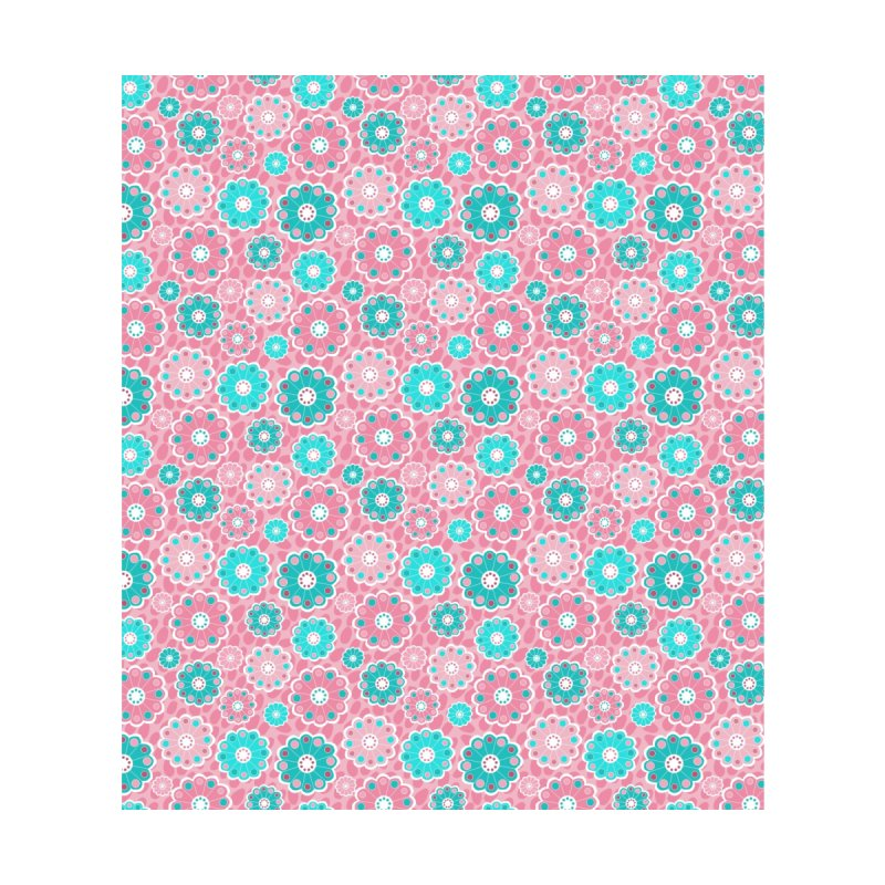 Pretty modern pink and aqua florals by thatsgraphic's Artist Shop