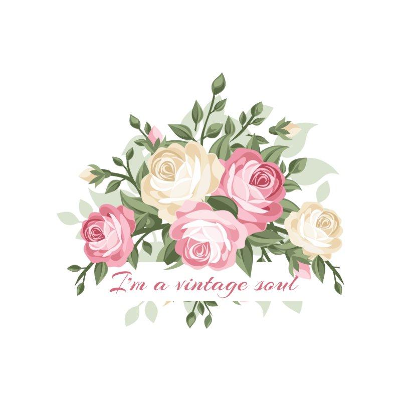 Pretty vintage floral - I'm a vintage soul by thatsgraphic's Artist Shop