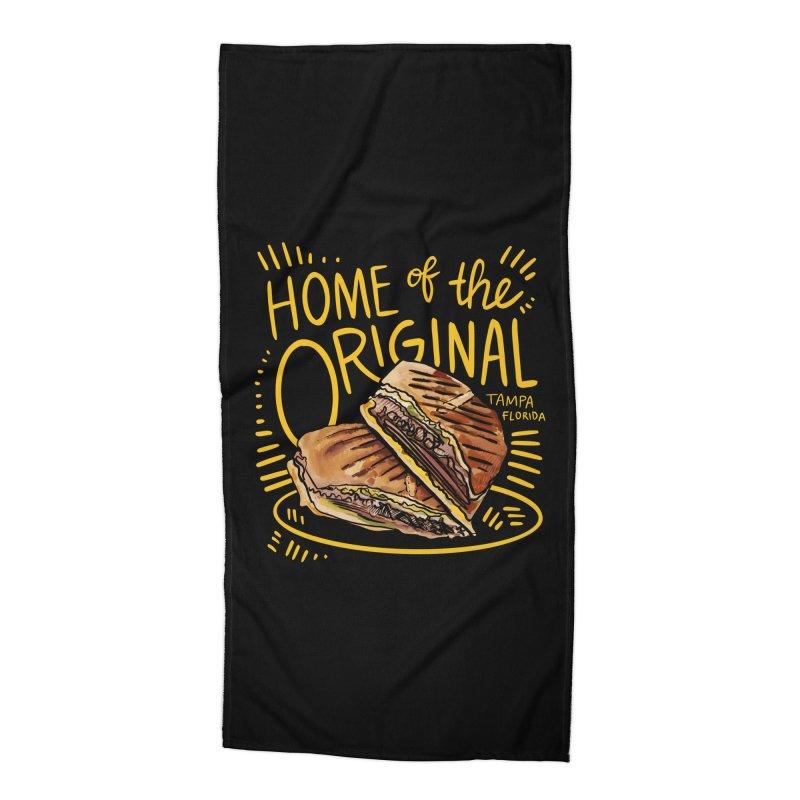 Home of the Original Cuban Sandwich Accessories Beach Towel by thatssotampa's Artist Shop