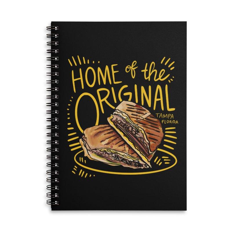 Home of the Original Cuban Sandwich Accessories Notebook by thatssotampa's Artist Shop