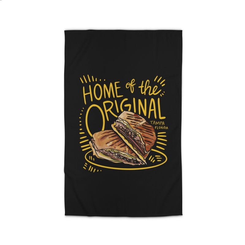 Home of the Original Cuban Sandwich Home Rug by thatssotampa's Artist Shop