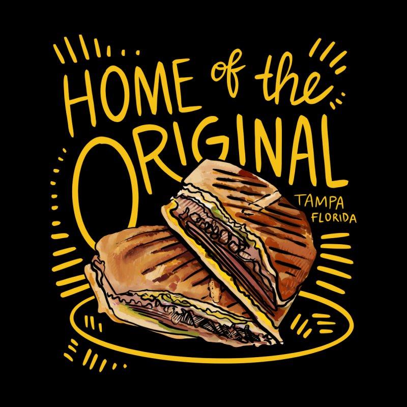 Home of the Original Cuban Sandwich Men's Zip-Up Hoody by thatssotampa's Artist Shop