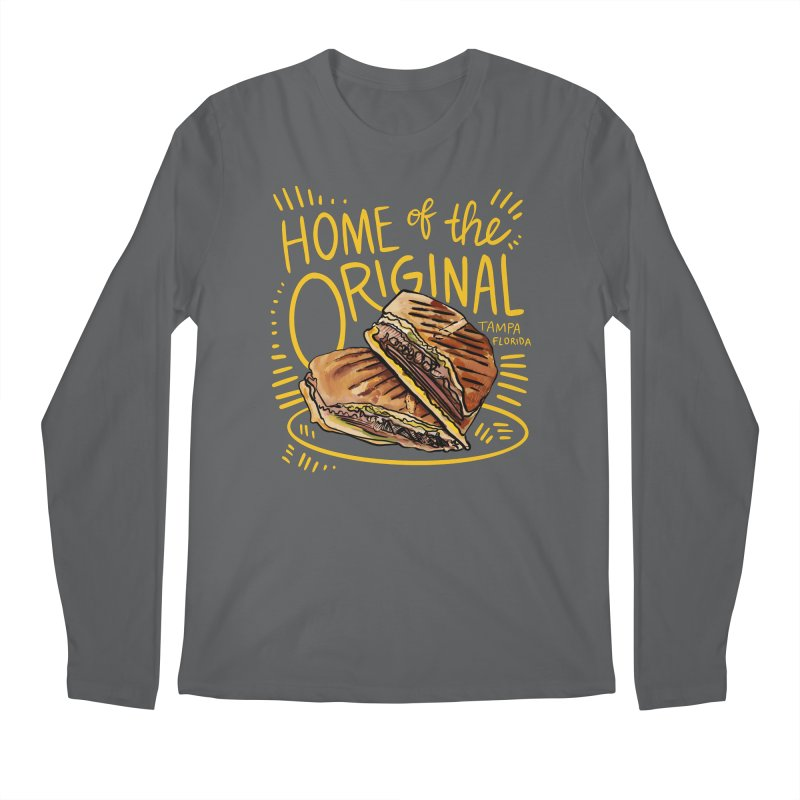 Home of the Original Cuban Sandwich Men's Longsleeve T-Shirt by thatssotampa's Artist Shop