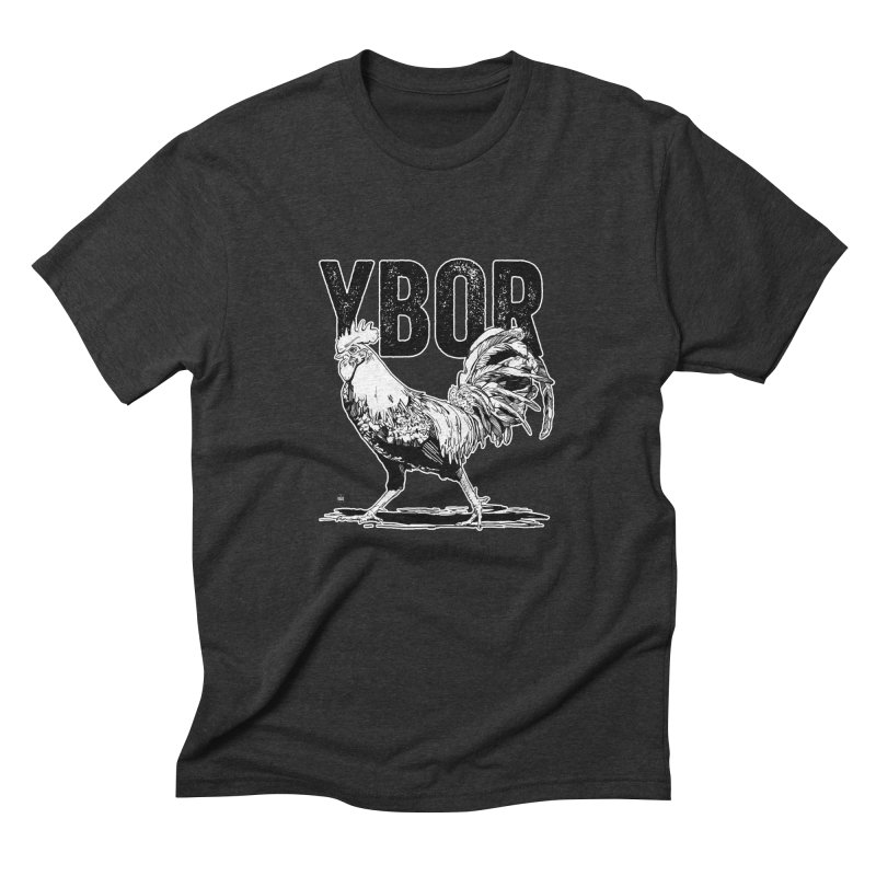 YBOR in Men's Triblend T-Shirt Heather Onyx by thatssotampa's Artist Shop