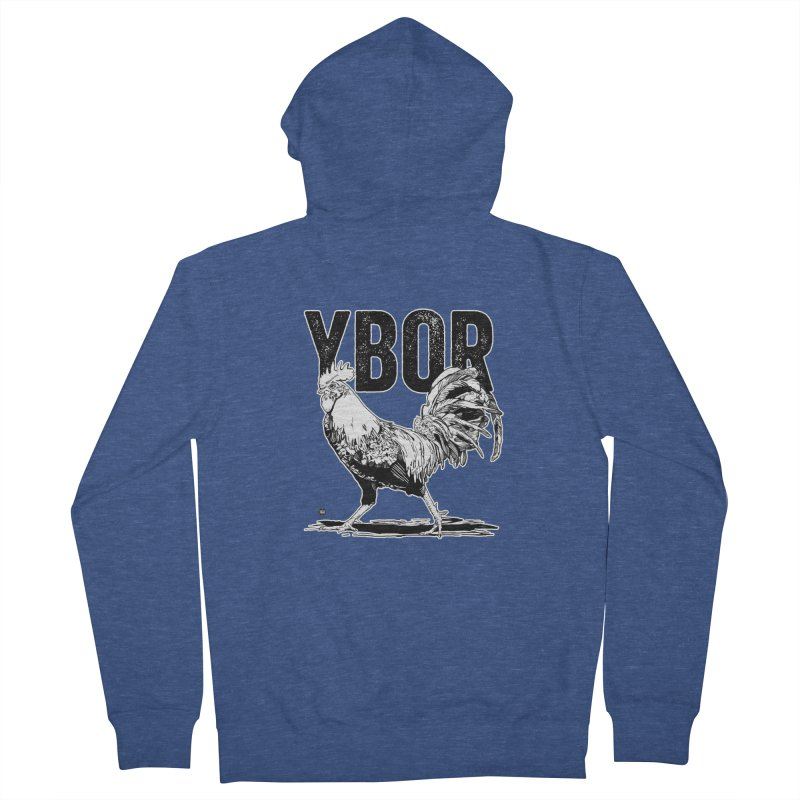 YBOR Women's French Terry Zip-Up Hoody by thatssotampa's Artist Shop