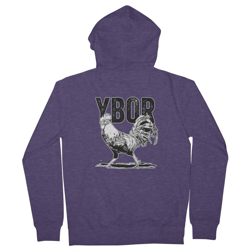 YBOR Men's French Terry Zip-Up Hoody by thatssotampa's Artist Shop