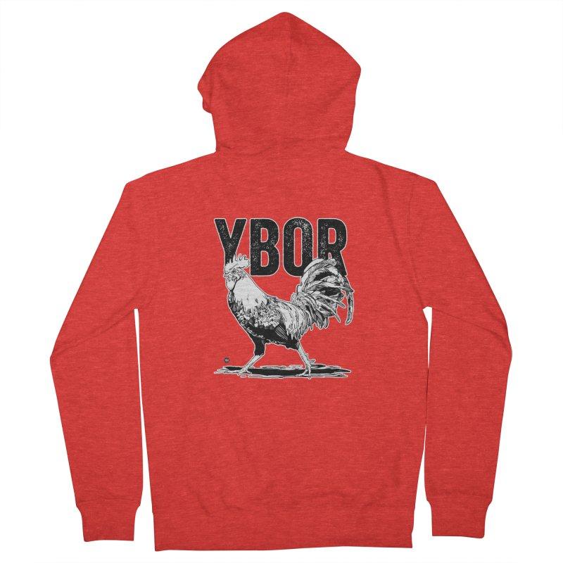YBOR Men's Zip-Up Hoody by thatssotampa's Artist Shop