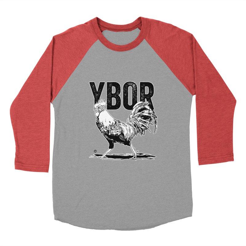 YBOR Women's Baseball Triblend Longsleeve T-Shirt by thatssotampa's Artist Shop