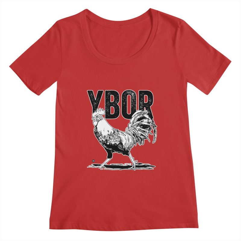 YBOR Women's Regular Scoop Neck by thatssotampa's Artist Shop