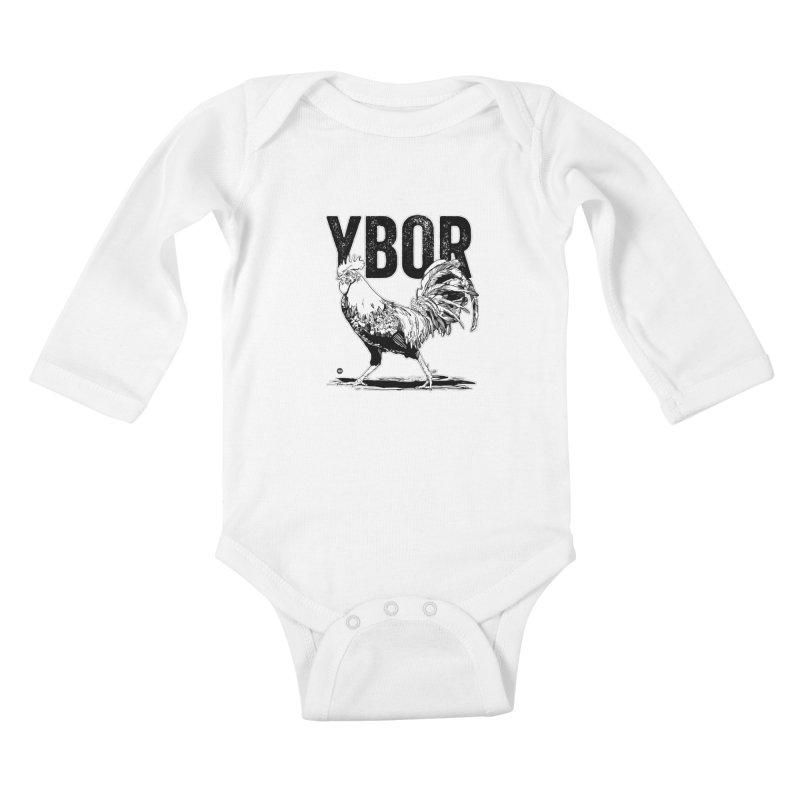 YBOR Kids Baby Longsleeve Bodysuit by thatssotampa's Artist Shop