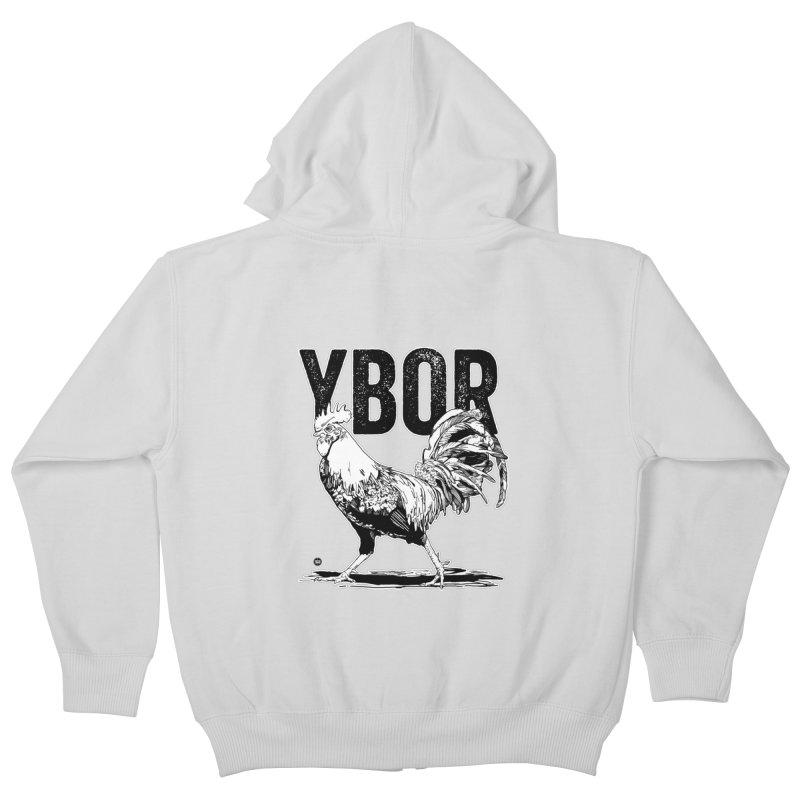 YBOR Kids Zip-Up Hoody by thatssotampa's Artist Shop