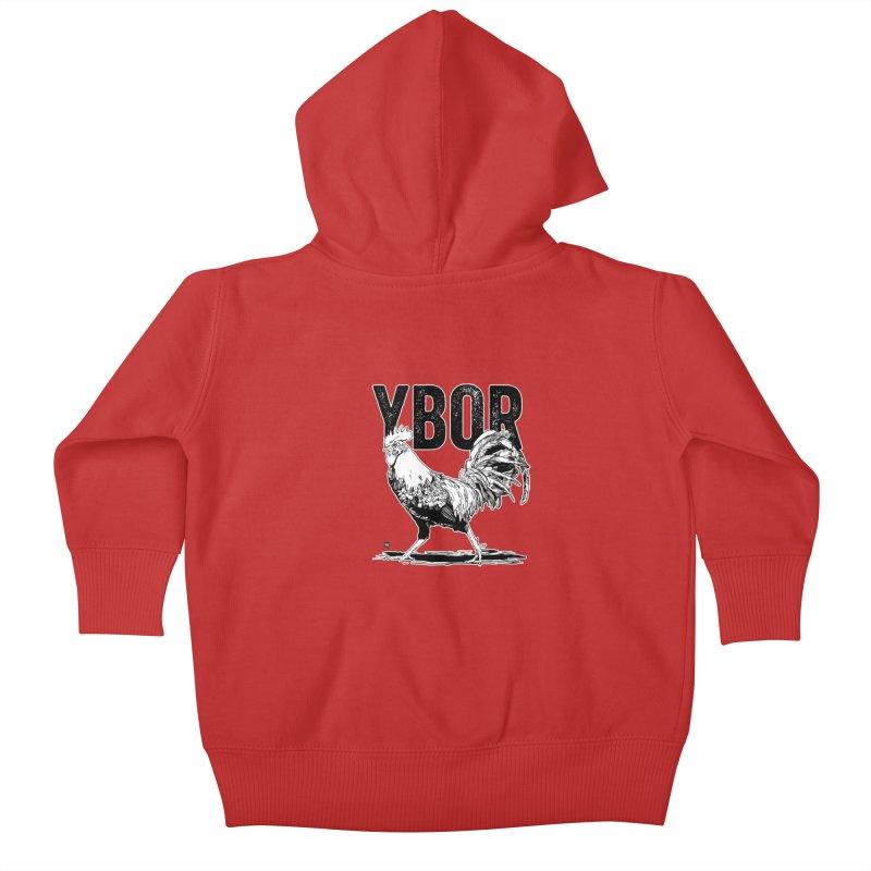 YBOR Kids Baby Zip-Up Hoody by thatssotampa's Artist Shop