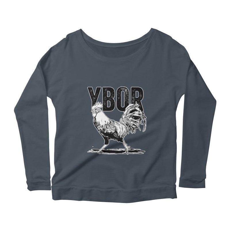 YBOR Women's Scoop Neck Longsleeve T-Shirt by thatssotampa's Artist Shop