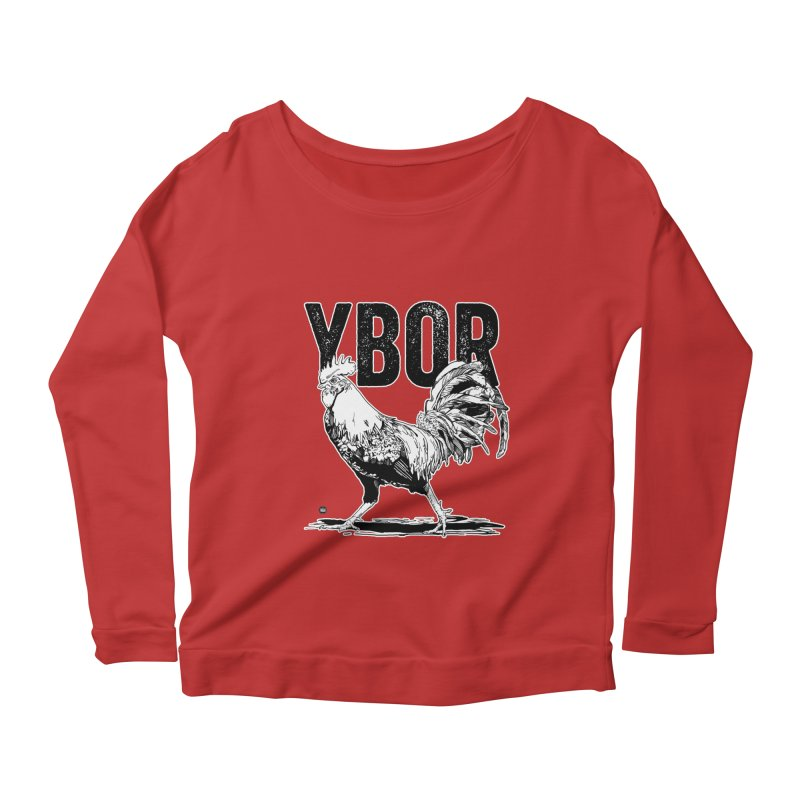 YBOR Women's Scoop Neck Longsleeve T-Shirt by thatssotampa's Artist Shop