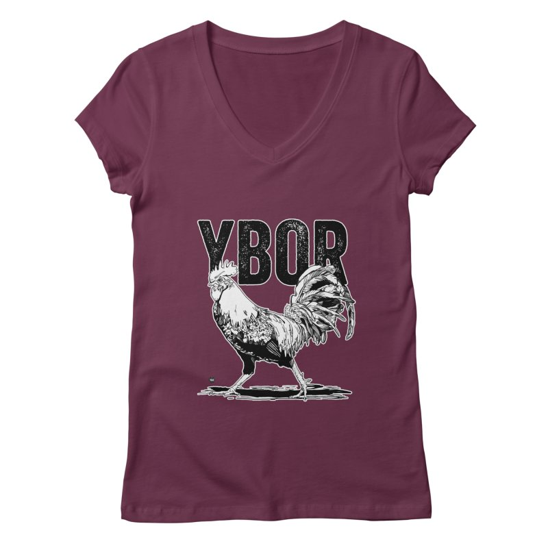 YBOR Women's Regular V-Neck by thatssotampa's Artist Shop
