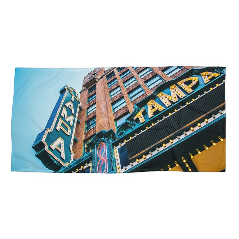 The Tampa Theatre Accessories Beach Towel by thatssotampa's Artist Shop