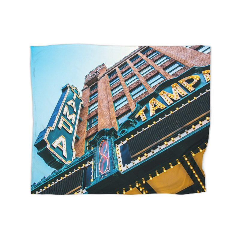 The Tampa Theatre Home Fleece Blanket Blanket by thatssotampa's Artist Shop