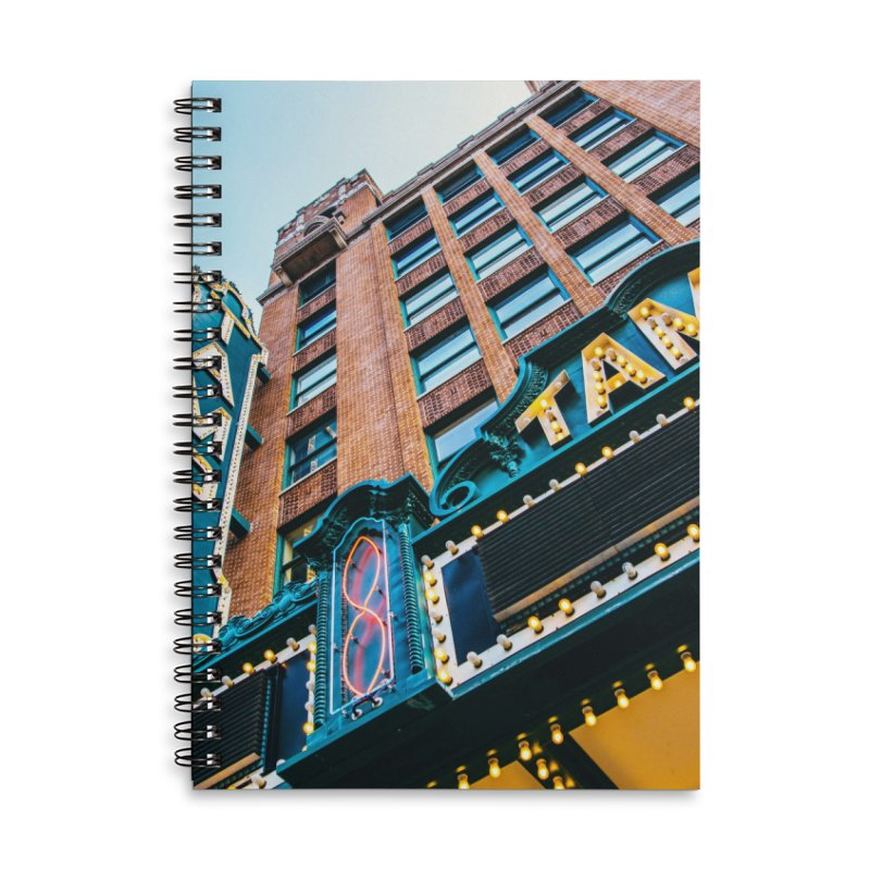 The Tampa Theatre Accessories Lined Spiral Notebook by thatssotampa's Artist Shop