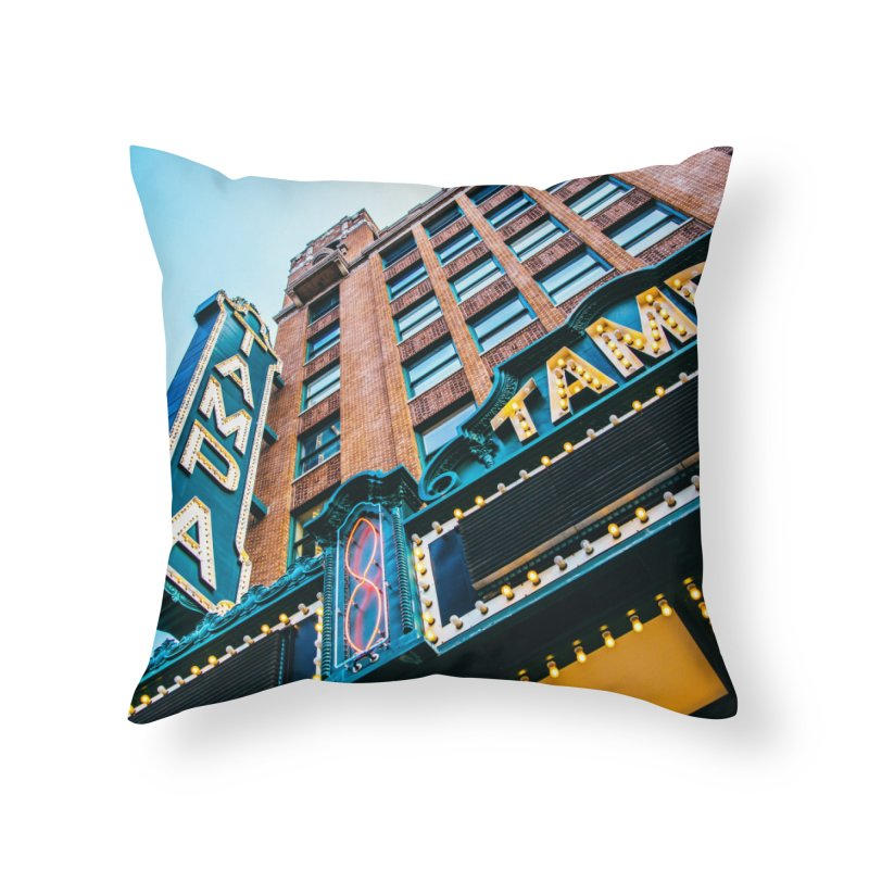 The Tampa Theatre Home Throw Pillow by thatssotampa's Artist Shop