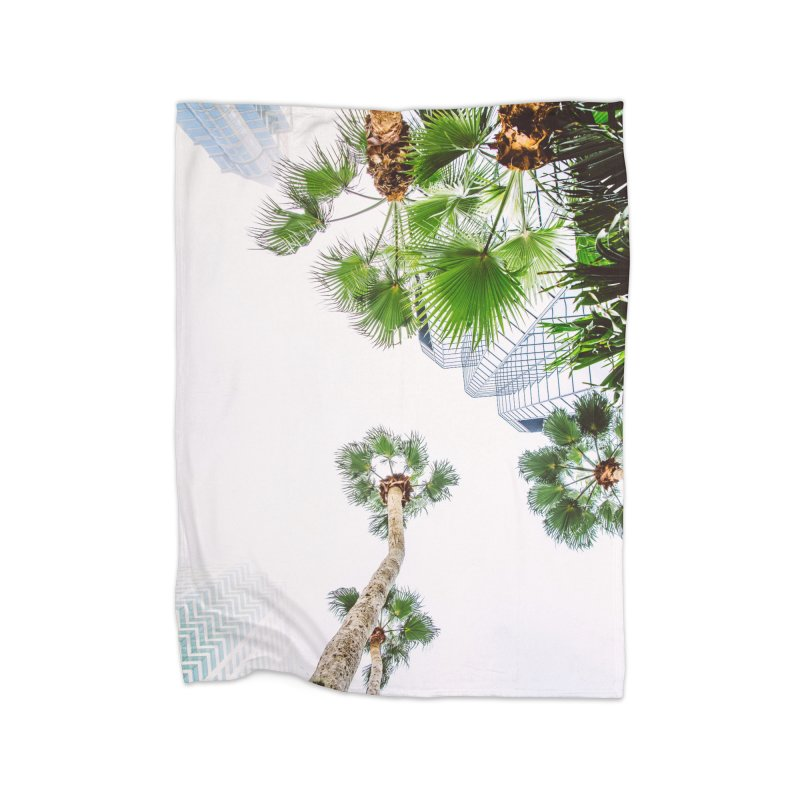 TAMPA | LOOK UP Home Fleece Blanket Blanket by thatssotampa's Artist Shop