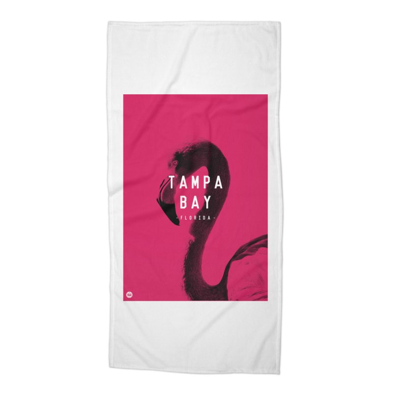 TAMPA BAY | FLamingo Accessories Beach Towel by thatssotampa's Artist Shop