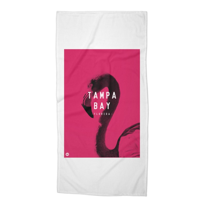 TAMPA BAY   FLamingo Accessories Beach Towel by thatssotampa's Artist Shop