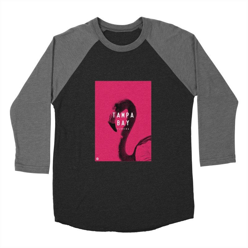 TAMPA BAY | FLamingo Men's Baseball Triblend Longsleeve T-Shirt by thatssotampa's Artist Shop