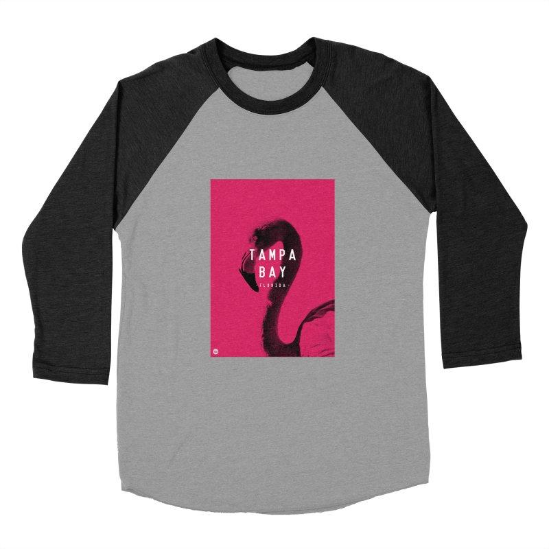 TAMPA BAY | FLamingo Men's Baseball Triblend T-Shirt by thatssotampa's Artist Shop