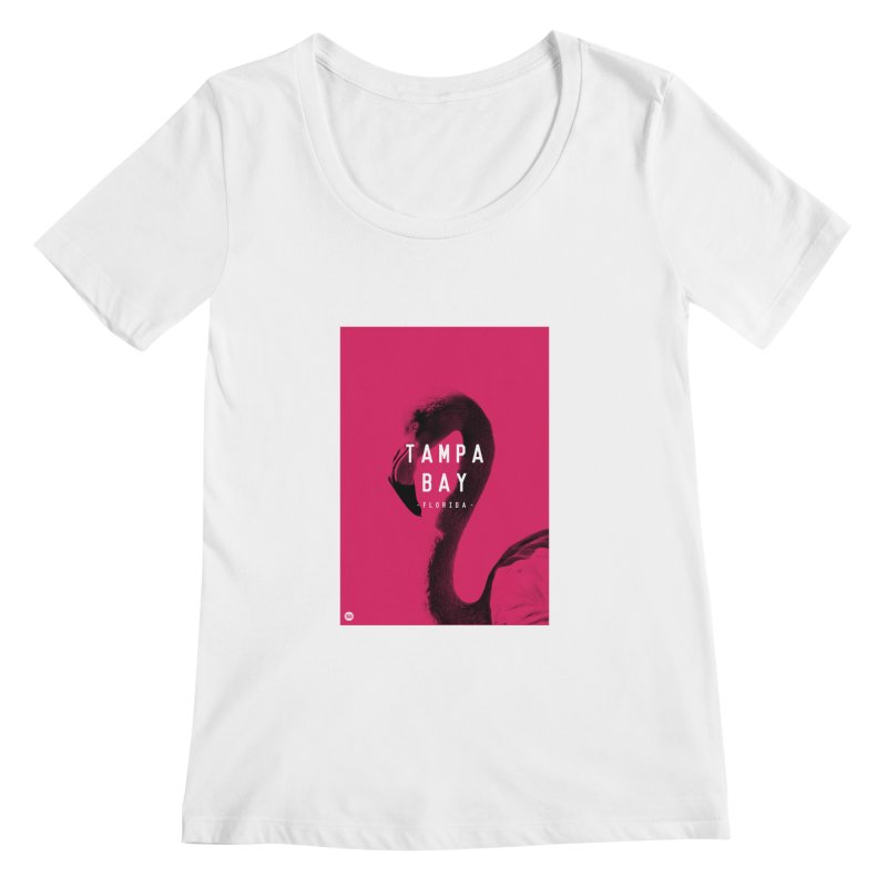 TAMPA BAY | FLamingo Women's Scoopneck by thatssotampa's Artist Shop