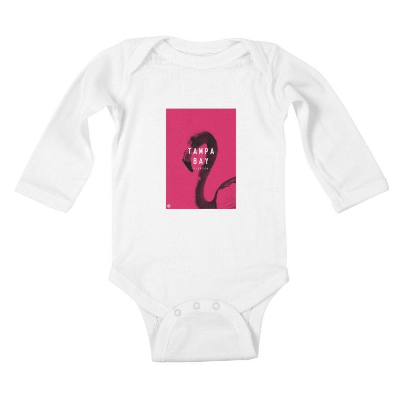 TAMPA BAY | FLamingo Kids Baby Longsleeve Bodysuit by thatssotampa's Artist Shop