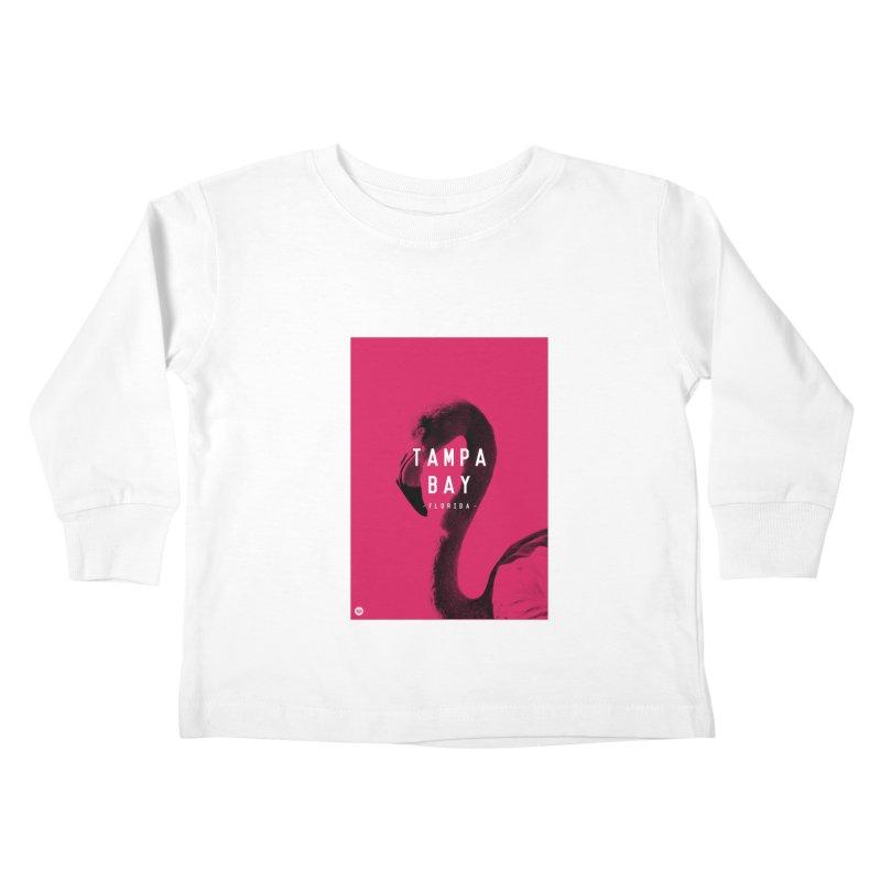 TAMPA BAY | FLamingo Kids Toddler Longsleeve T-Shirt by thatssotampa's Artist Shop