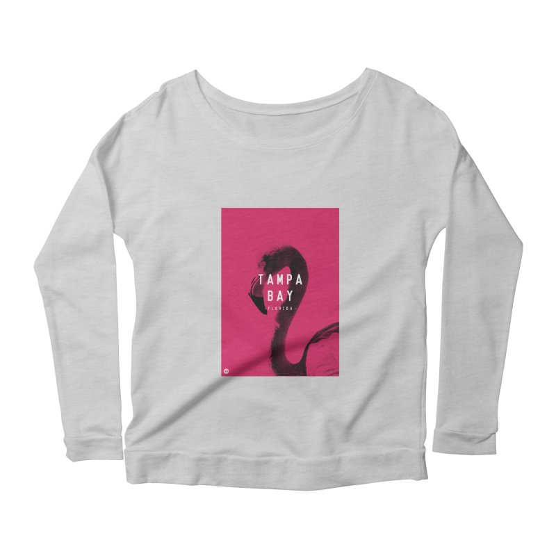 TAMPA BAY   FLamingo Women's Scoop Neck Longsleeve T-Shirt by thatssotampa's Artist Shop