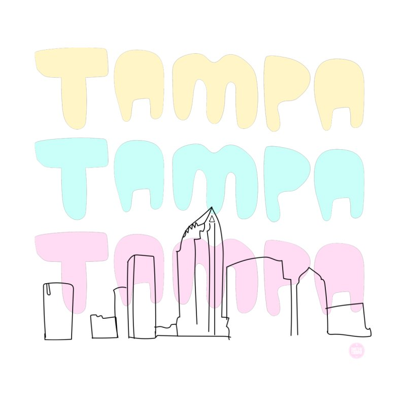 A TAMPA SKYLINE Men's T-Shirt by thatssotampa's Artist Shop