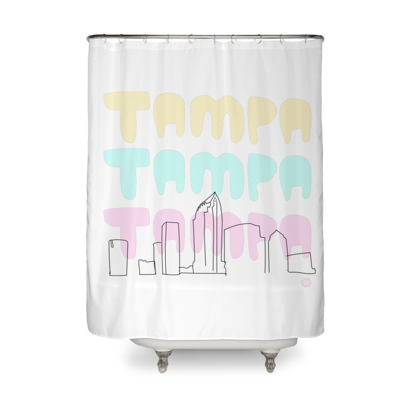 A TAMPA SKYLINE Home Shower Curtain by thatssotampa's Artist Shop