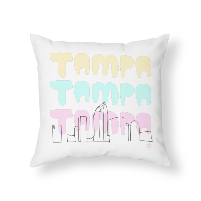 A TAMPA SKYLINE Home Throw Pillow by thatssotampa's Artist Shop