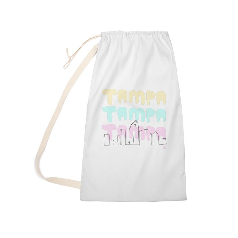 A TAMPA SKYLINE Accessories Laundry Bag Bag by thatssotampa's Artist Shop
