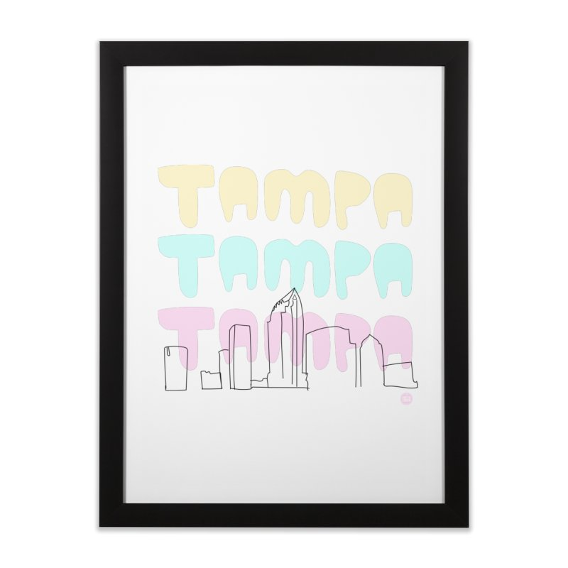 A TAMPA SKYLINE Home Framed Fine Art Print by thatssotampa's Artist Shop