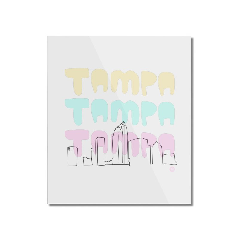 A TAMPA SKYLINE Home Mounted Acrylic Print by thatssotampa's Artist Shop