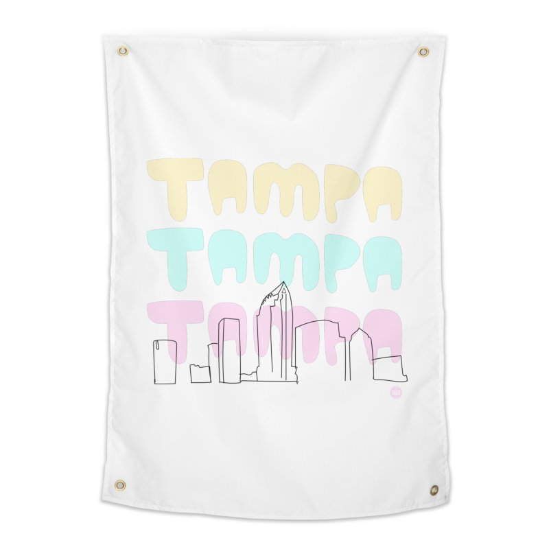 A TAMPA SKYLINE Home Tapestry by thatssotampa's Artist Shop