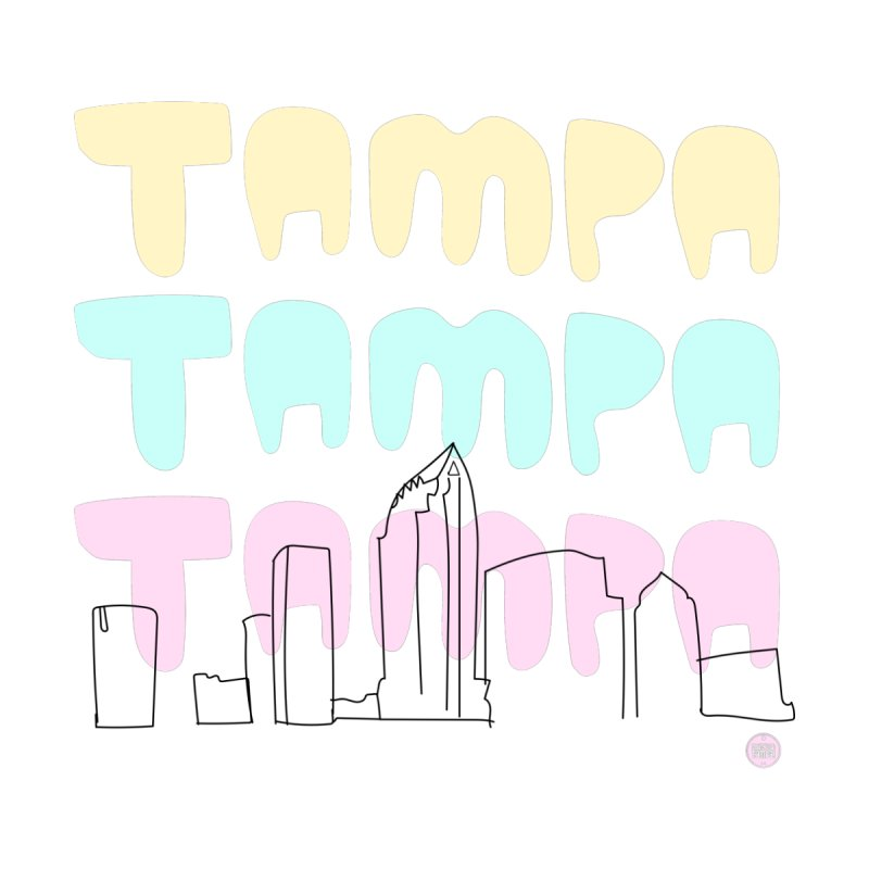 A TAMPA SKYLINE Accessories Beach Towel by thatssotampa's Artist Shop