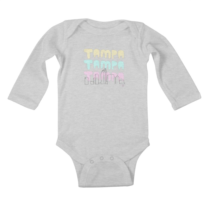 A TAMPA SKYLINE Kids Baby Longsleeve Bodysuit by thatssotampa's Artist Shop