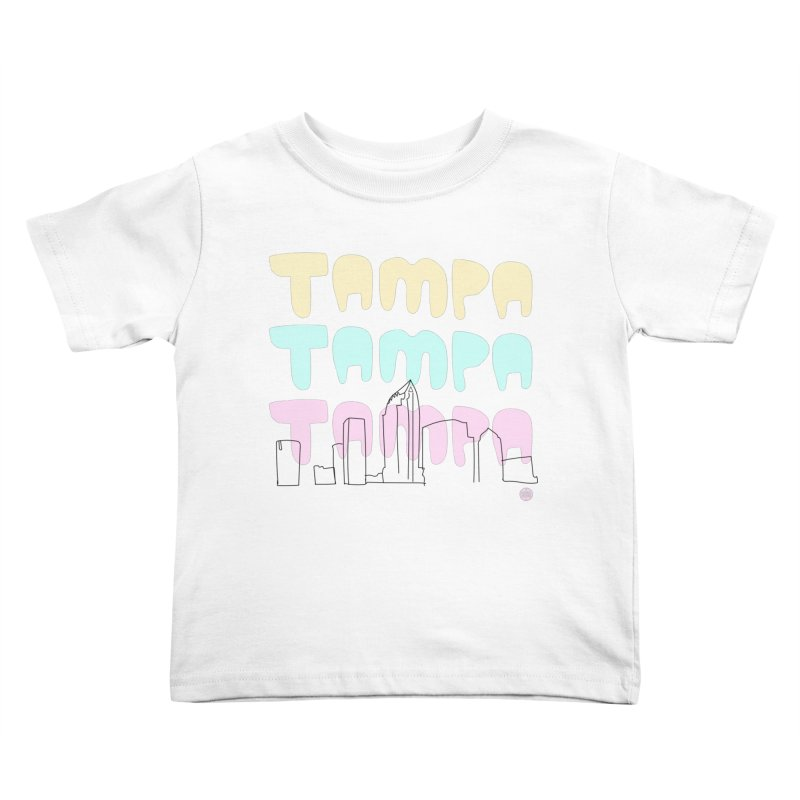 A TAMPA SKYLINE Kids Toddler T-Shirt by thatssotampa's Artist Shop