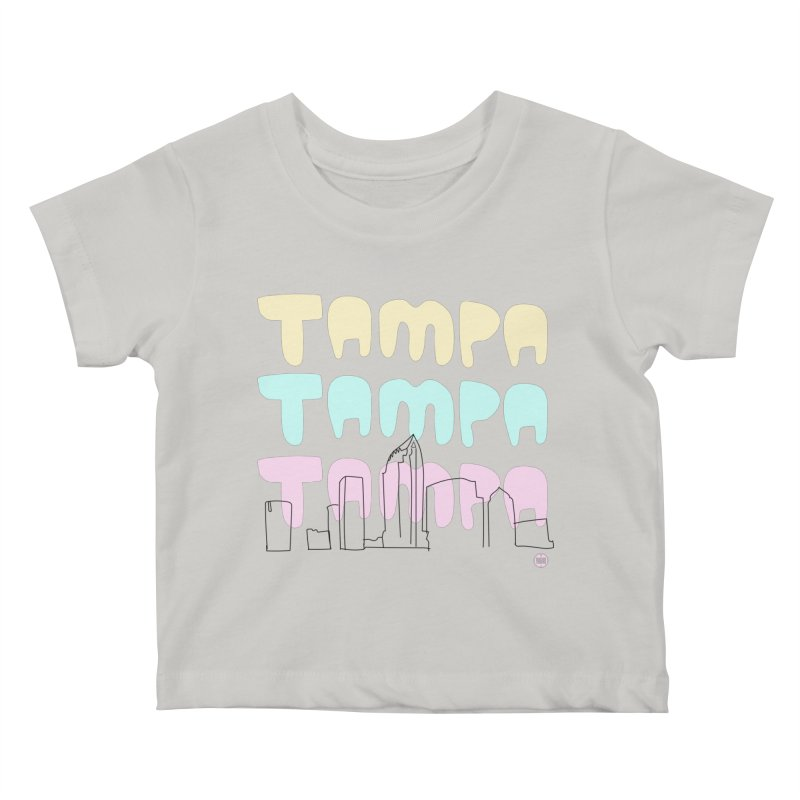 A TAMPA SKYLINE Kids Baby T-Shirt by thatssotampa's Artist Shop