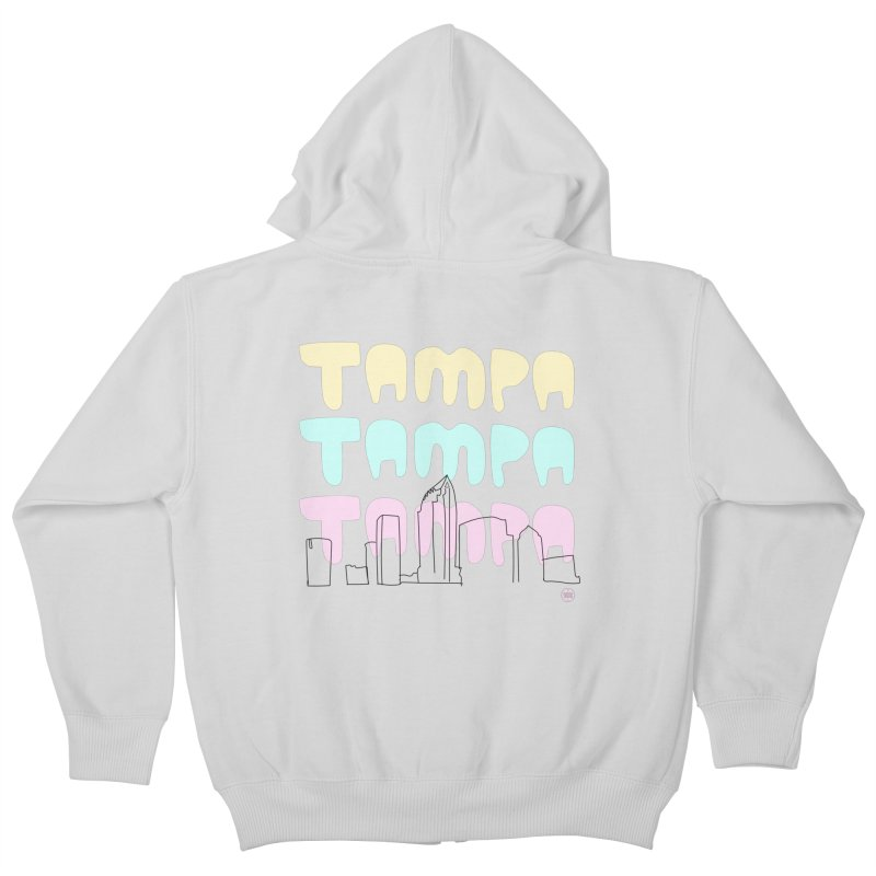 A TAMPA SKYLINE Kids Zip-Up Hoody by thatssotampa's Artist Shop