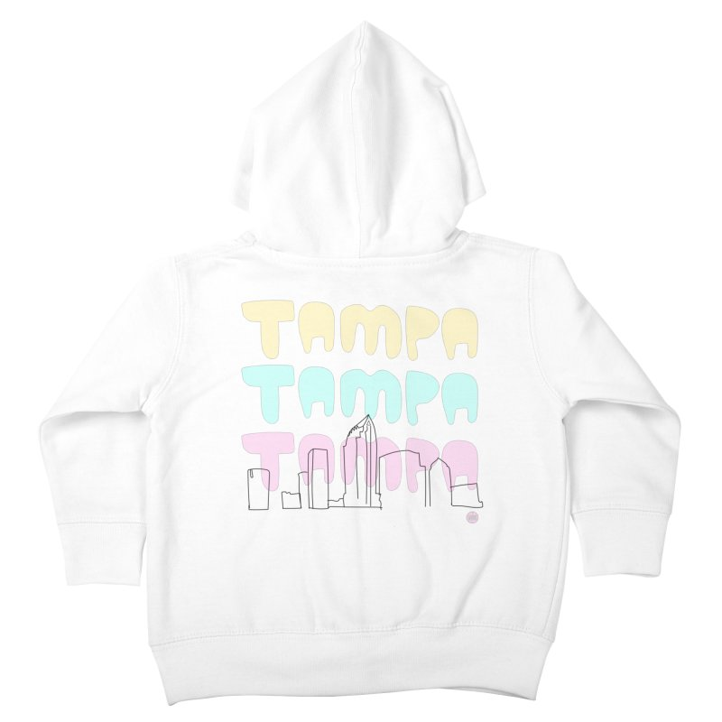 A TAMPA SKYLINE Kids Toddler Zip-Up Hoody by thatssotampa's Artist Shop