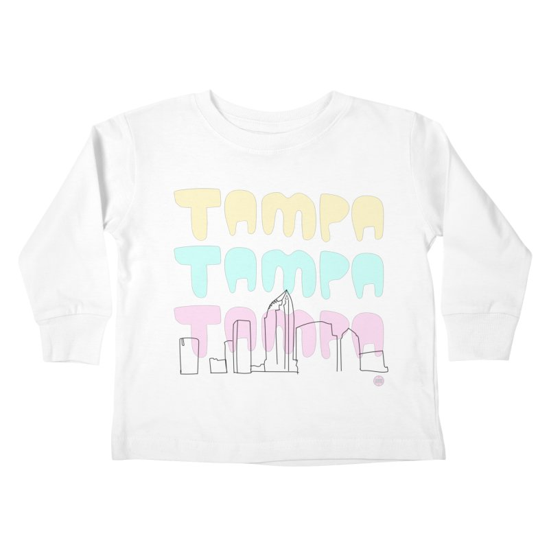 A TAMPA SKYLINE Kids Toddler Longsleeve T-Shirt by thatssotampa's Artist Shop