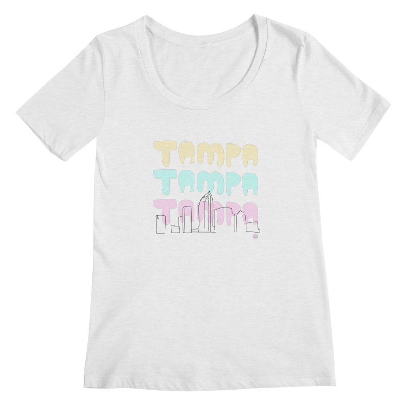 A TAMPA SKYLINE Women's Scoopneck by thatssotampa's Artist Shop